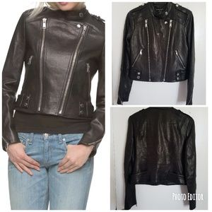 New Marc by Andrew Marc Gia Moto Leather Jacket